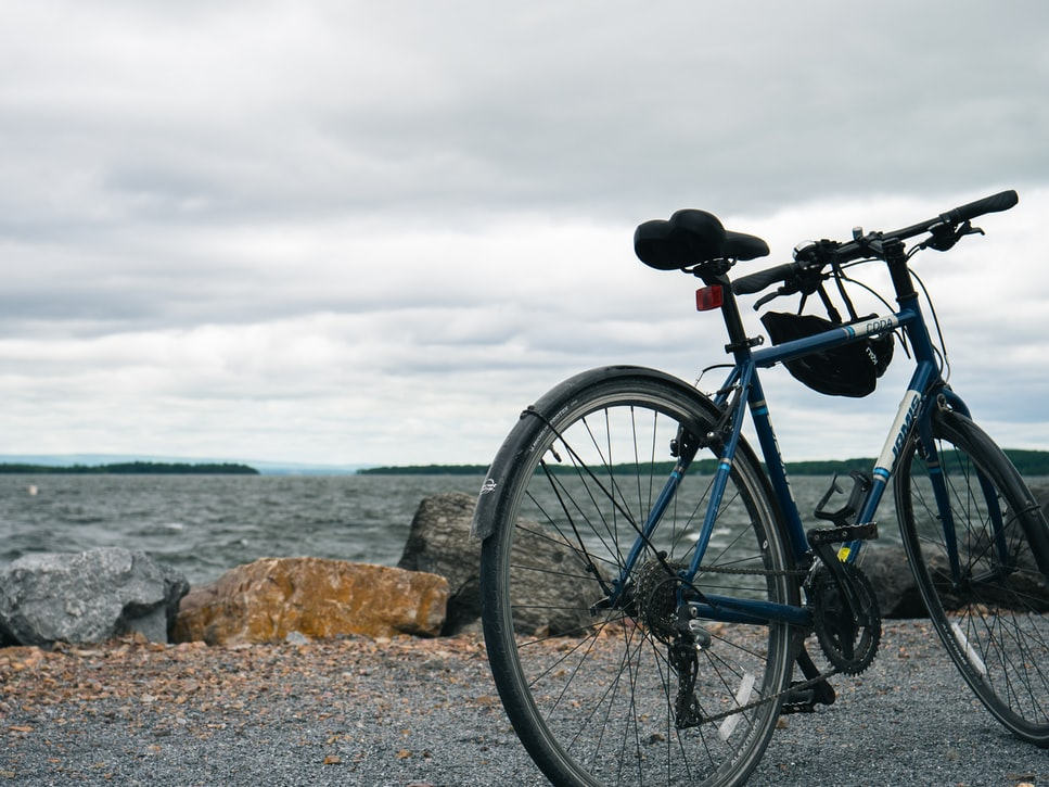 Bike at Lake Champlain